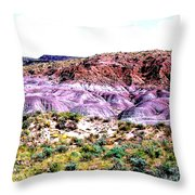 The Painted Desert  In Arizona Throw Pillow