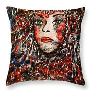 The Painted Lady Throw Pillow