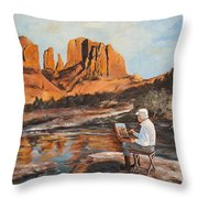 The Painter Woods Throw Pillow