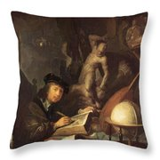 The Painter In His Workshop 1647 Throw Pillow