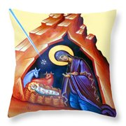 The Painting At Shepherds Field Throw Pillow