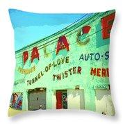 The Palace At Asbury Park Throw Pillow