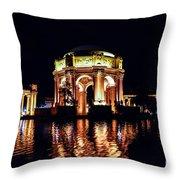 The Palace At Night Throw Pillow