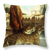 The Palace Guard With Two Leopards Throw Pillow