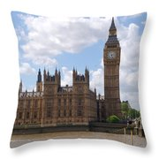The Palace Of Westminster Throw Pillow