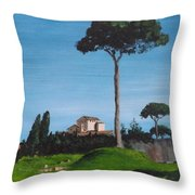 The Palatine Hill, Rome Throw Pillow