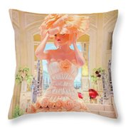 The Palazzo Casino Venetian Rose Dress Throw Pillow