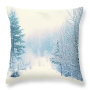 The Pale Kiss Of Winter Throw Pillow