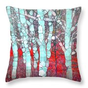 The Pale Trees Of Winter Throw Pillow