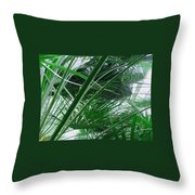 The Palm House Kew England Throw Pillow