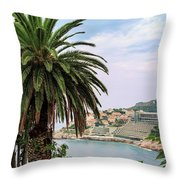 The Palm Is Always Associated With Summer, Sea, Travelling To Warm Countries And Rest Throw Pillow