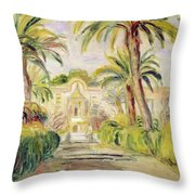 The Palm Trees Throw Pillow
