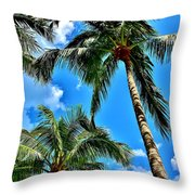 The Palms Throw Pillow
