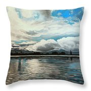 The Panoramic Painting Throw Pillow