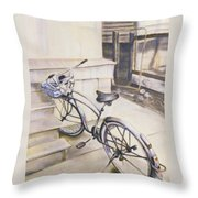 The Paper Route Throw Pillow