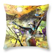 The Parable Of The Sower Throw Pillow by Miki De Goodaboom