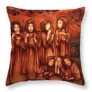 The Parable Of The Ten Virgins Throw Pillow