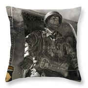 The Paratrooper Throw Pillow
