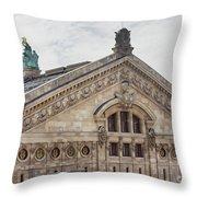 The Paris Opera Art Throw Pillow