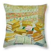 The Parisian Novels Or The Yellow Books Throw Pillow