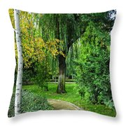 The Park Federico Garcia Lorca Is Situated In The City Of Granada, In Spain. Throw Pillow