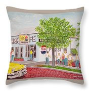 The Park Shoppe Portsmouth Ohio Throw Pillow