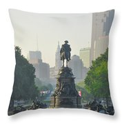 The Parkway - Philadelphia Pa Throw Pillow