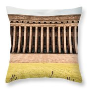 The Parliament House In Helsinki Throw Pillow