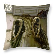 The Parquet Planers - Gustave Caillebotte Throw Pillow