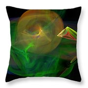 The Parrot By The Harbour Throw Pillow