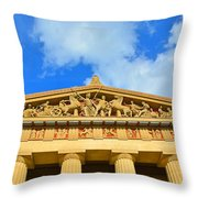 The Parthenon In Nashville Tennessee 2 Throw Pillow
