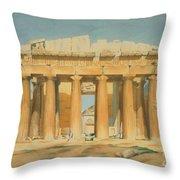 The Parthenon Throw Pillow by Louis Dupre