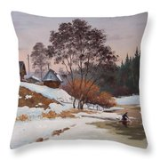 The Pasha River. March Throw Pillow