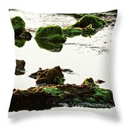 The Passetto Rocks And Water, Ancona, Italy Throw Pillow