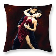The Passion Of Tango Throw Pillow