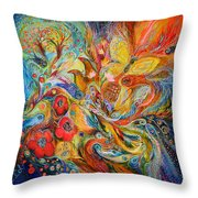 The Passion Of Ultramarine Throw Pillow