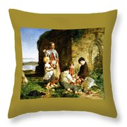 The Past And The Present Throw Pillow