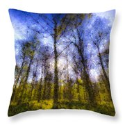 The Pastel Forest Throw Pillow
