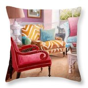 The Pastel Suite Throw Pillow