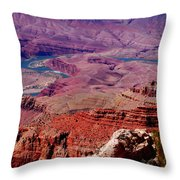 The Path Of The Colorado River Throw Pillow