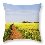 The Path To Bosworth Field Throw Pillow by John Edwards