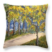 The Path To Piccadilly Throw Pillow