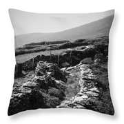 The Path To The Beehive Huts In Fahan Ireland Throw Pillow