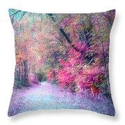 The Pathway Of Gentle Memories Throw Pillow