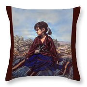 The Patient Child Throw Pillow