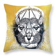 The Patient Llama  Throw Pillow