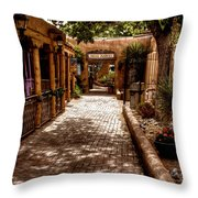 The Patio Market Throw Pillow