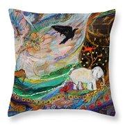 The Patriarchs Series - Ark Of Noah Throw Pillow