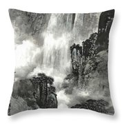 The Pavilion Appreciates The Waterfall Throw Pillow