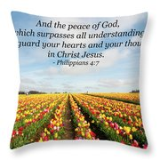 The Peace Of God Throw Pillow